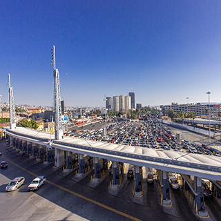 San Ysidro Lanes of Traffic
