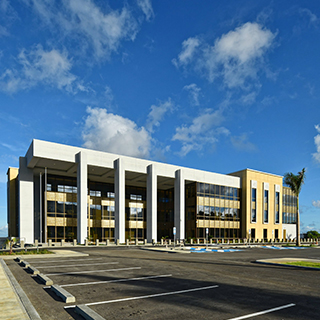 The new U.S. District Courthouse in Saipan